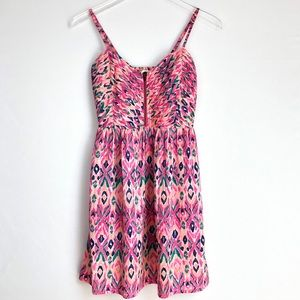 Roxy Mini pink pattern dress size S